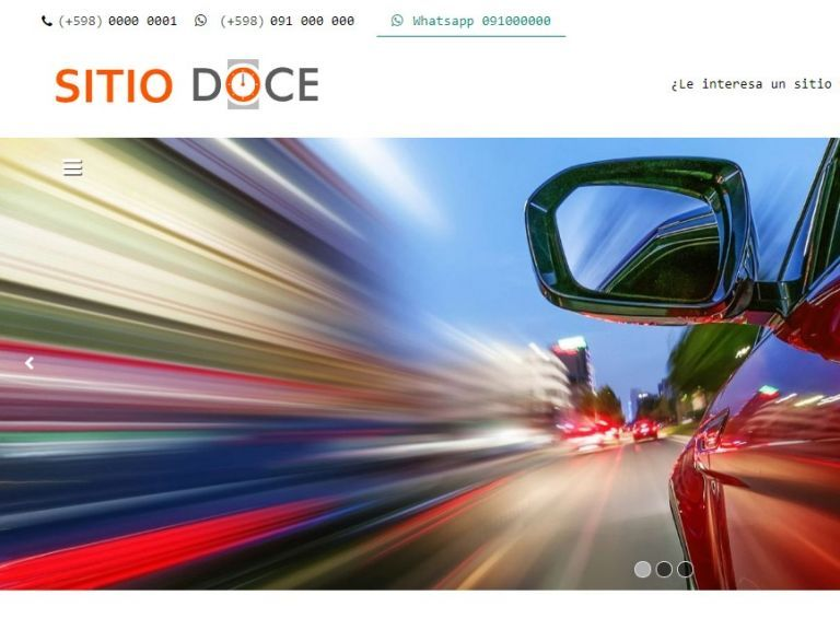 Automotora diseño web, template plantilla profesional. - AUTOS 12 . Diseño sitio web automotora rentadora
