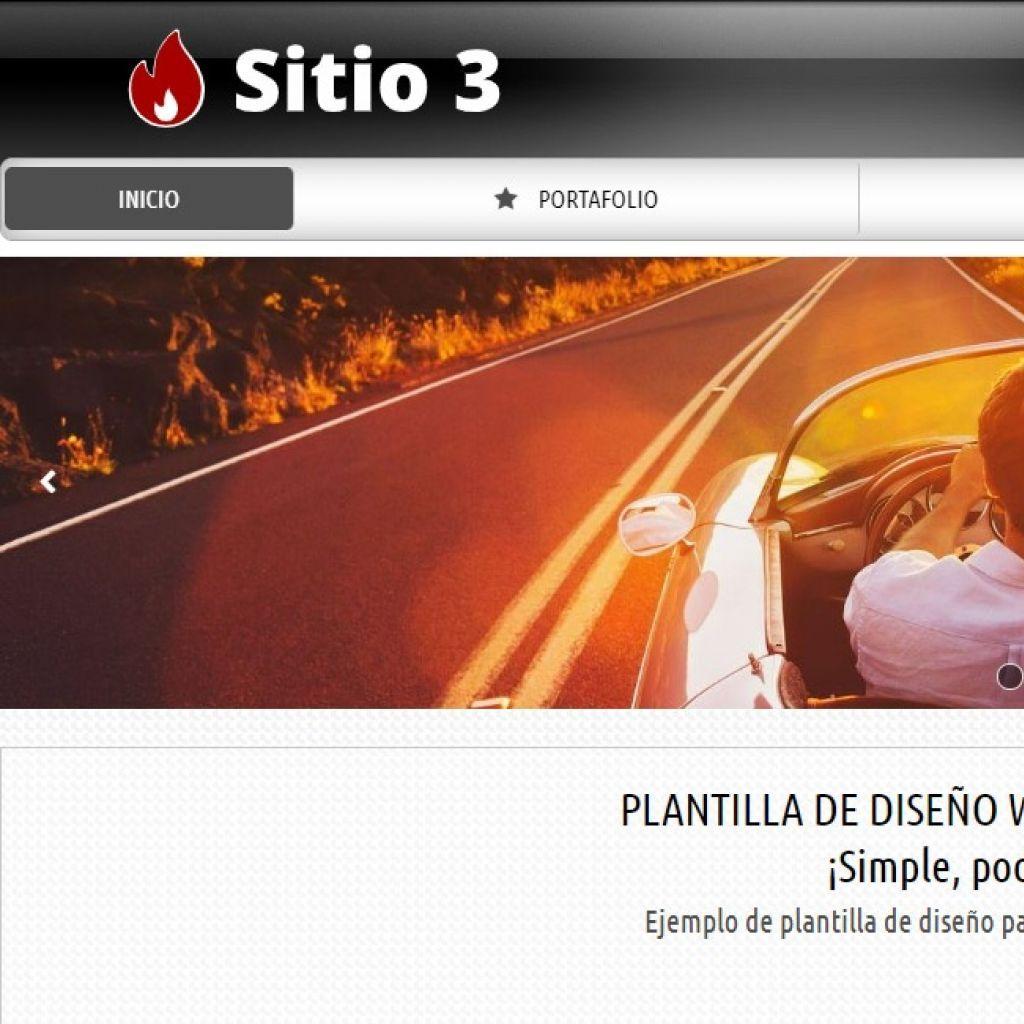 Autos Demo 3, demo de diseño web para automotora.