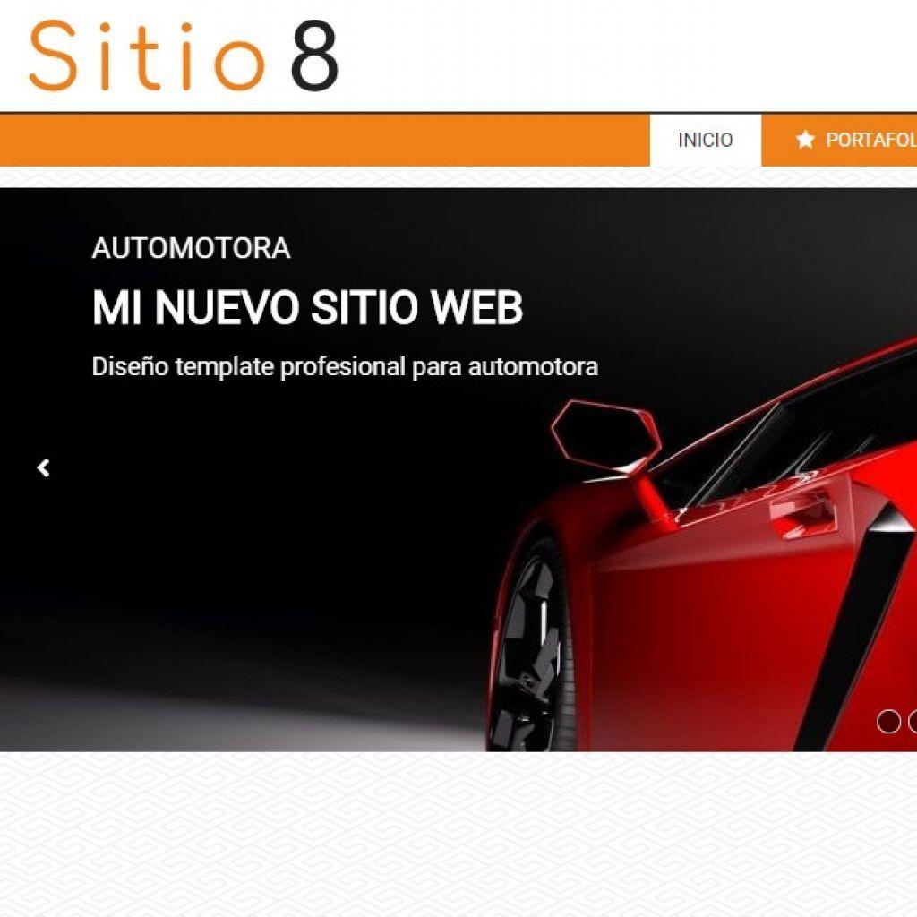 Ejemplo de diseño para armado de sitio web de automotora.