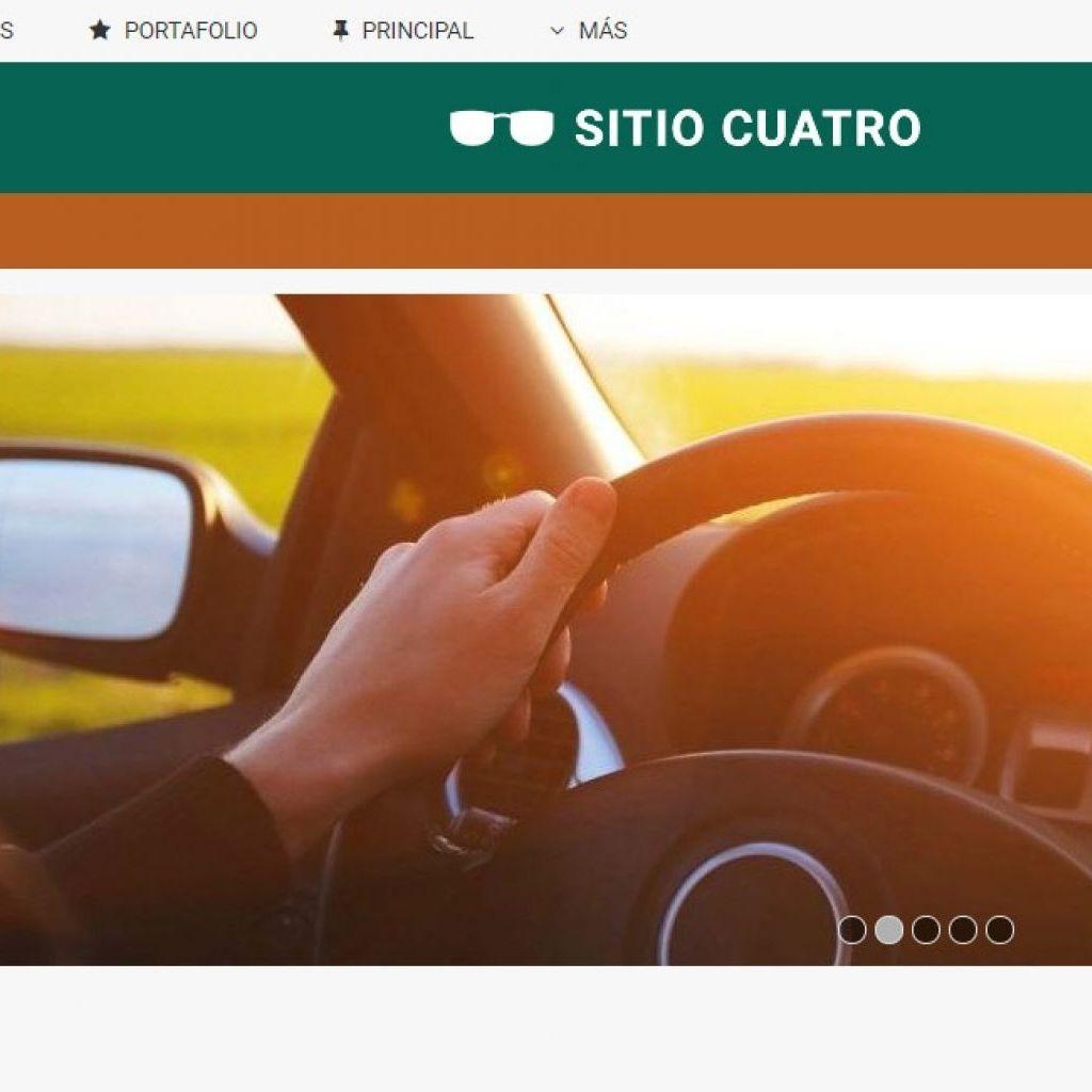 Plantilla de diseño web para automotora lista para usar online.